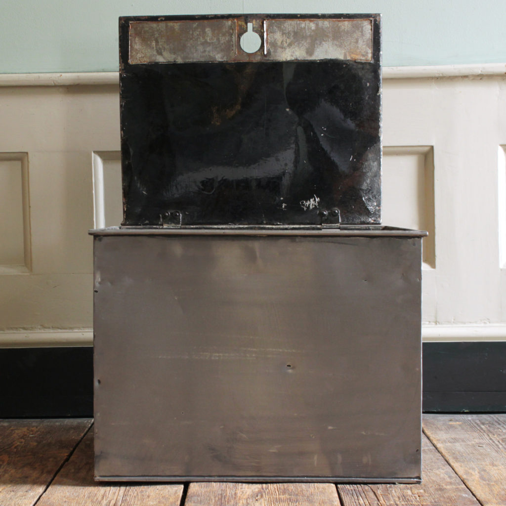 A burnished steel deed box,-94805