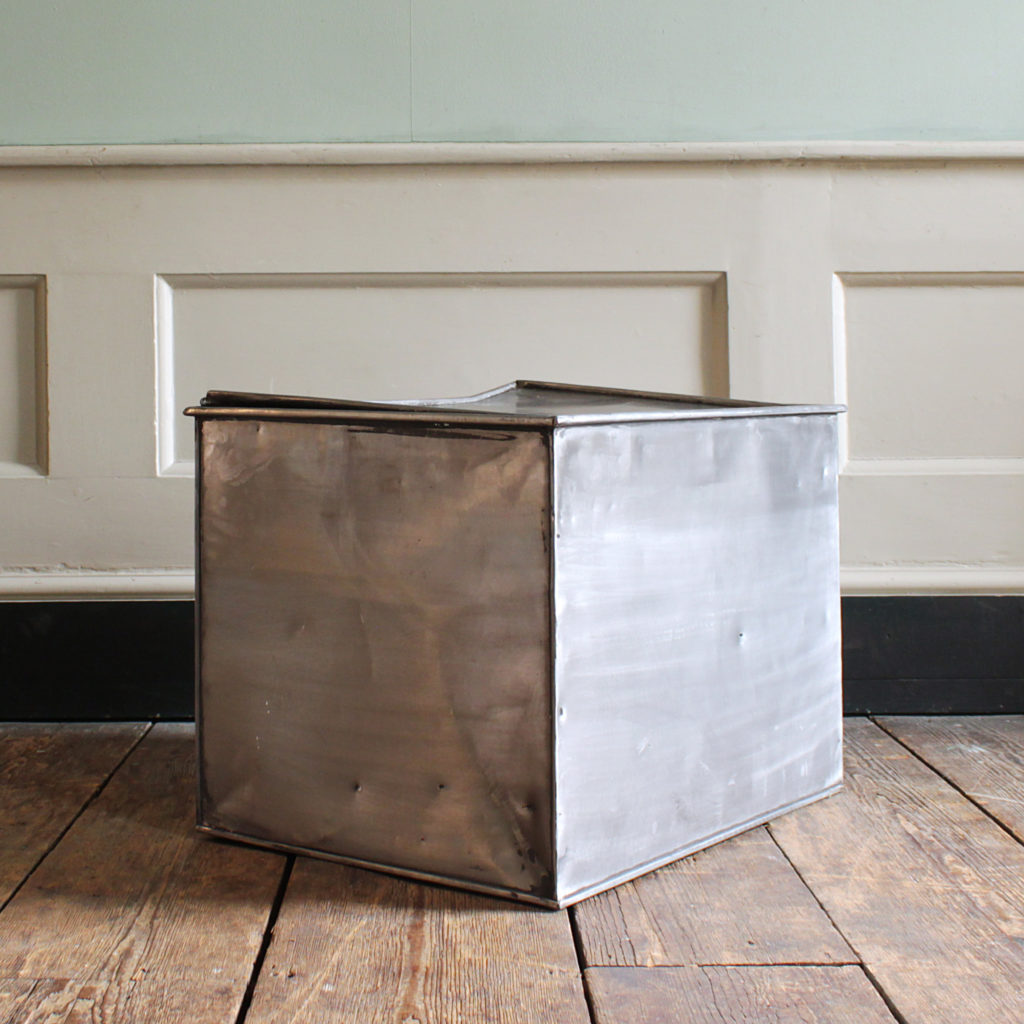 A burnished steel deed box,-94804