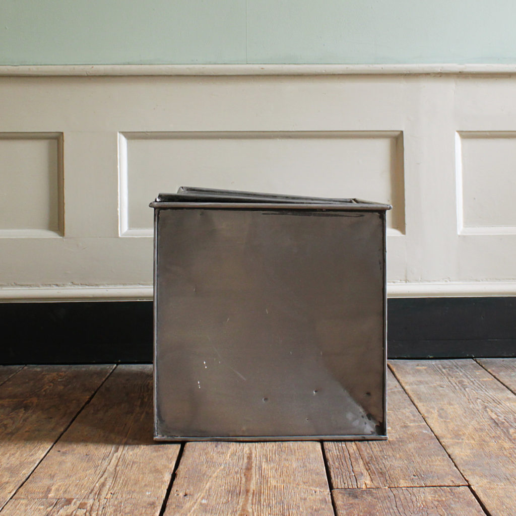 A burnished steel deed box,-94806