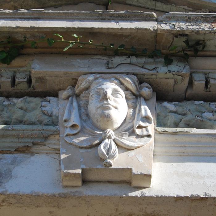 Coade stone keystone
