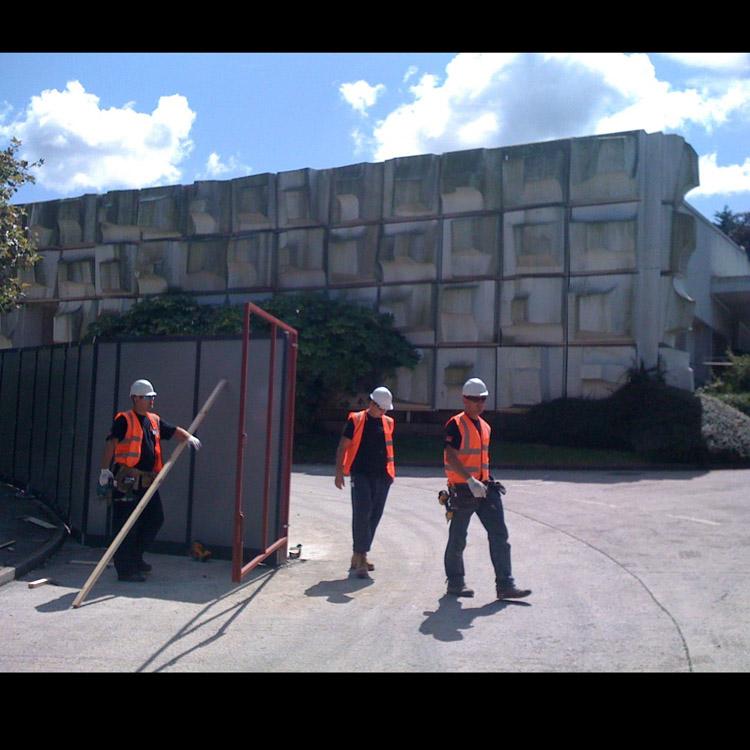 Falmouth frieze on demolition