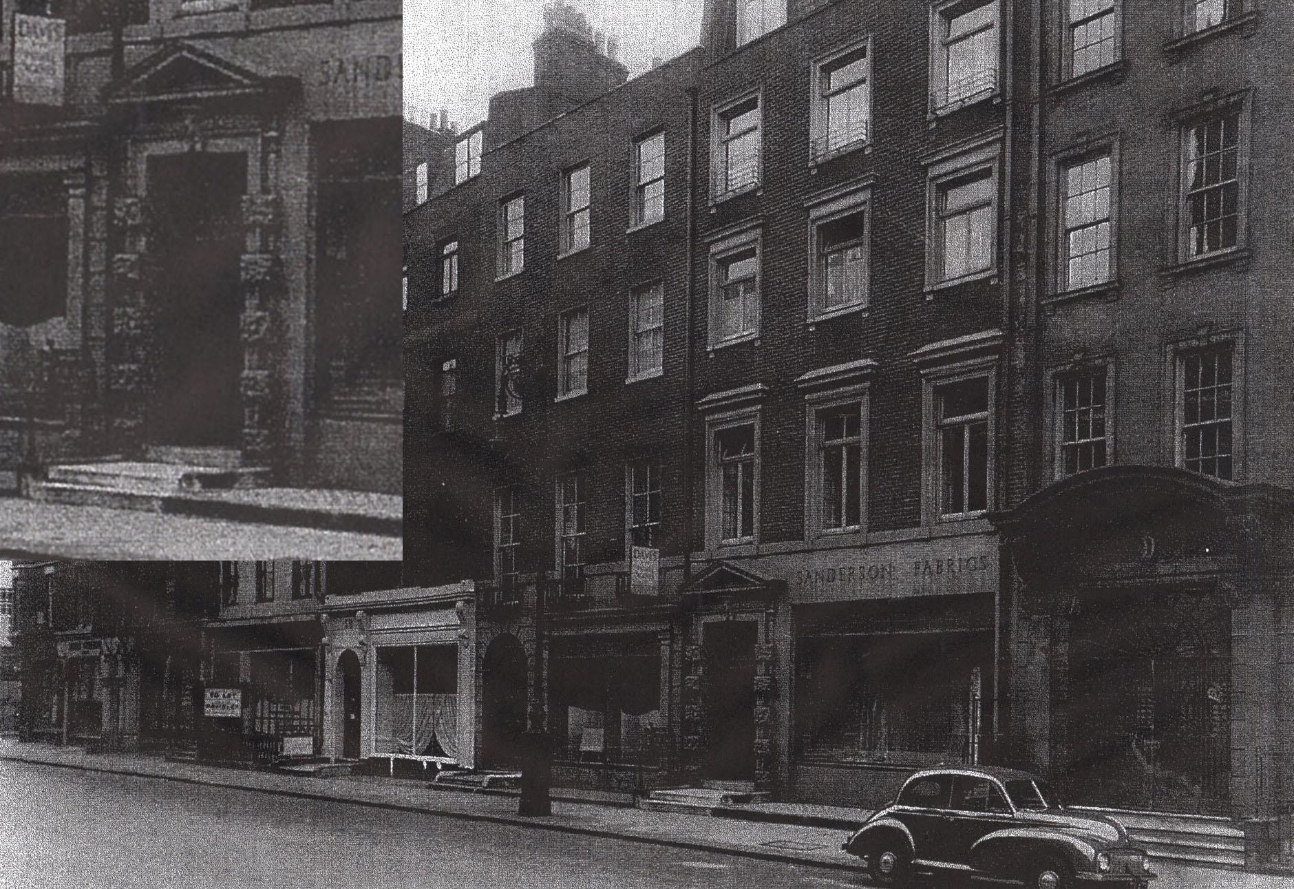 Berners Street (inset: doorcase enlarged)