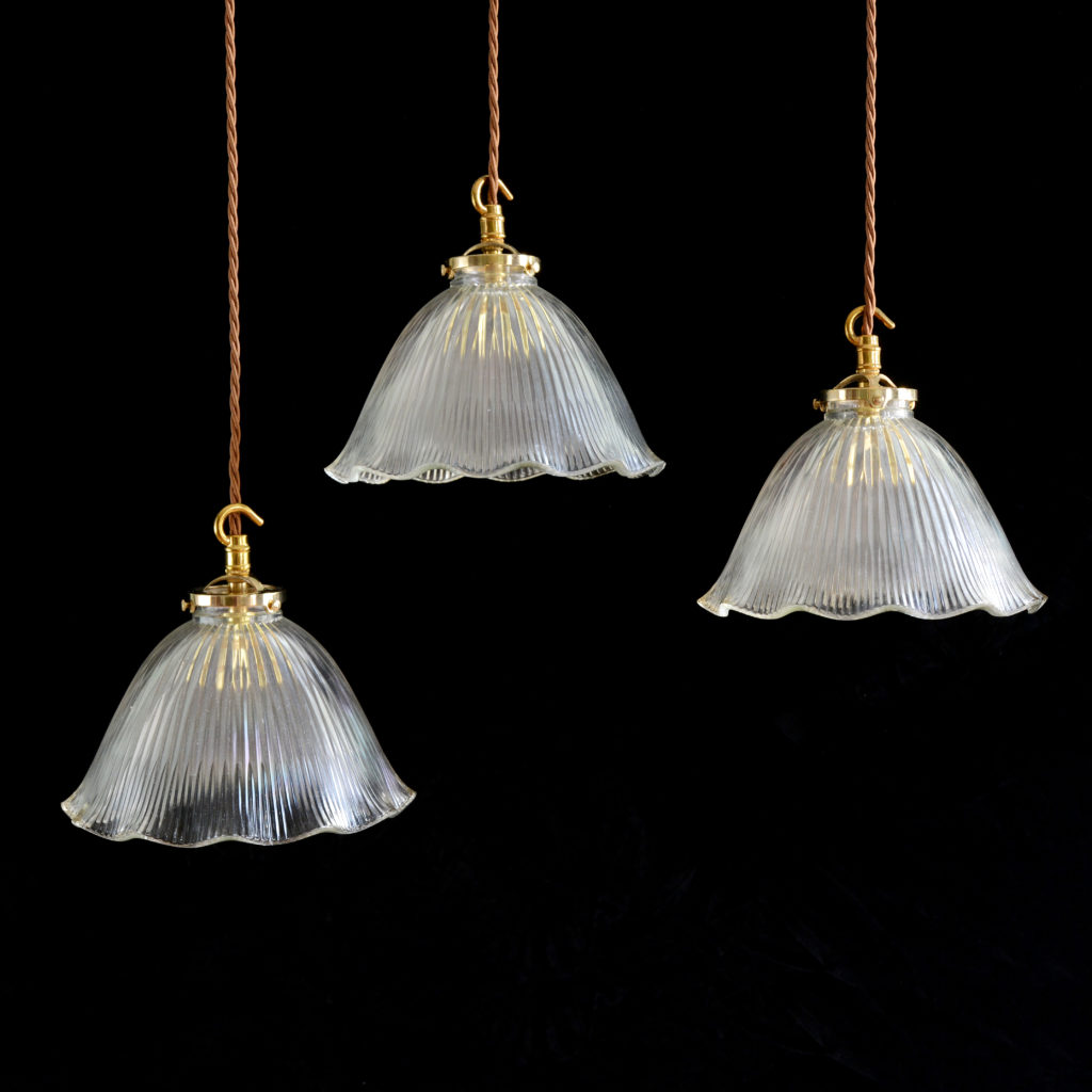 Moulded glass pendant lights