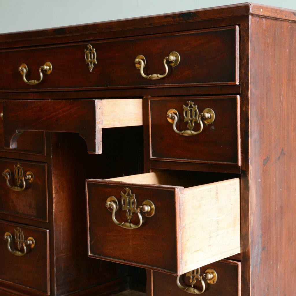 A George II mahogany kneehole desk,-96012