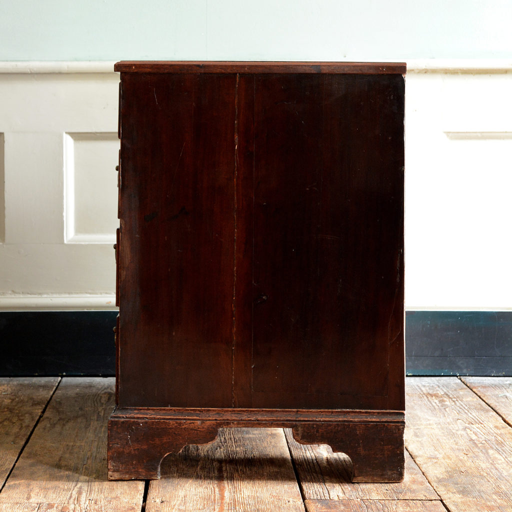 A George II mahogany kneehole desk,-96008