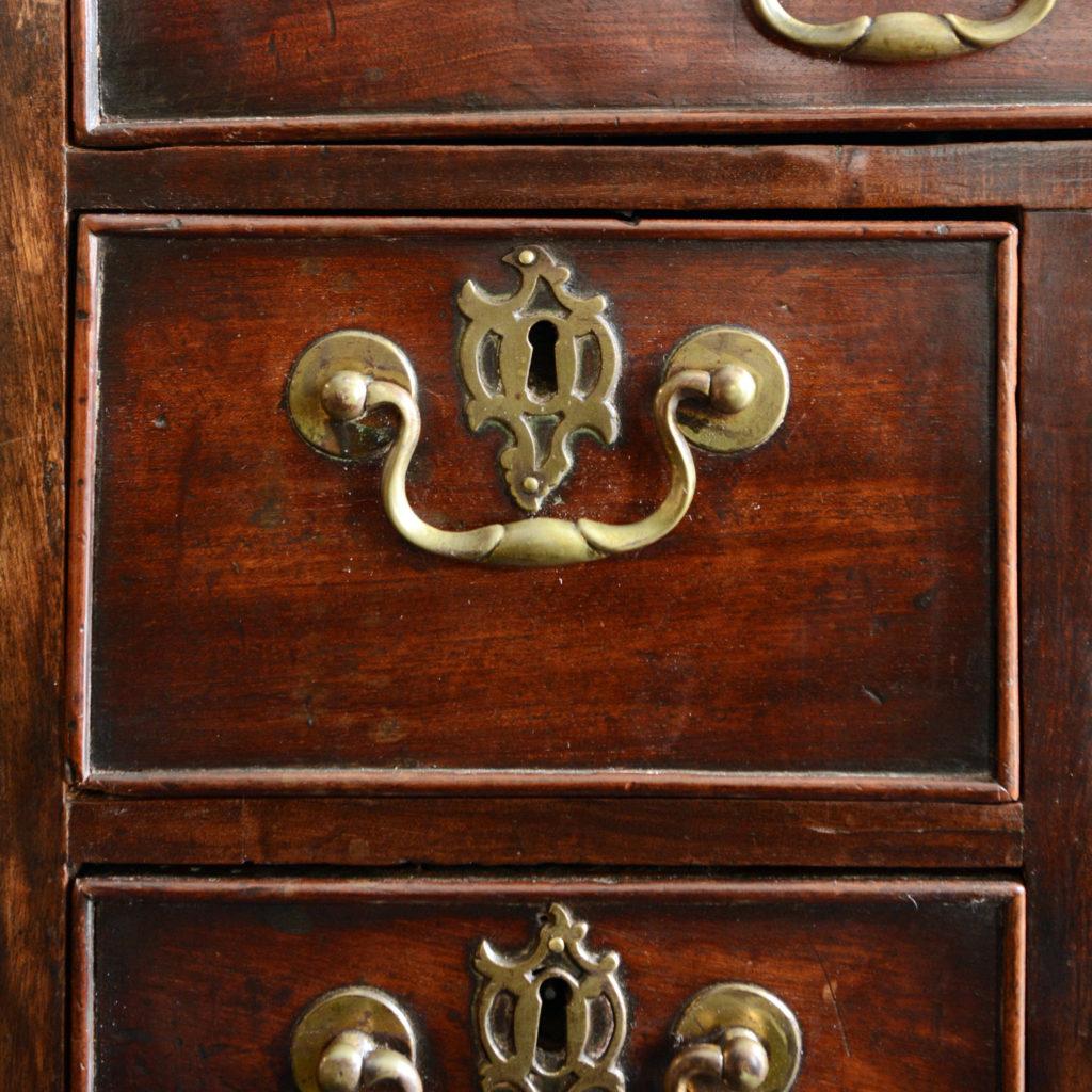 A George II mahogany kneehole desk,-96013