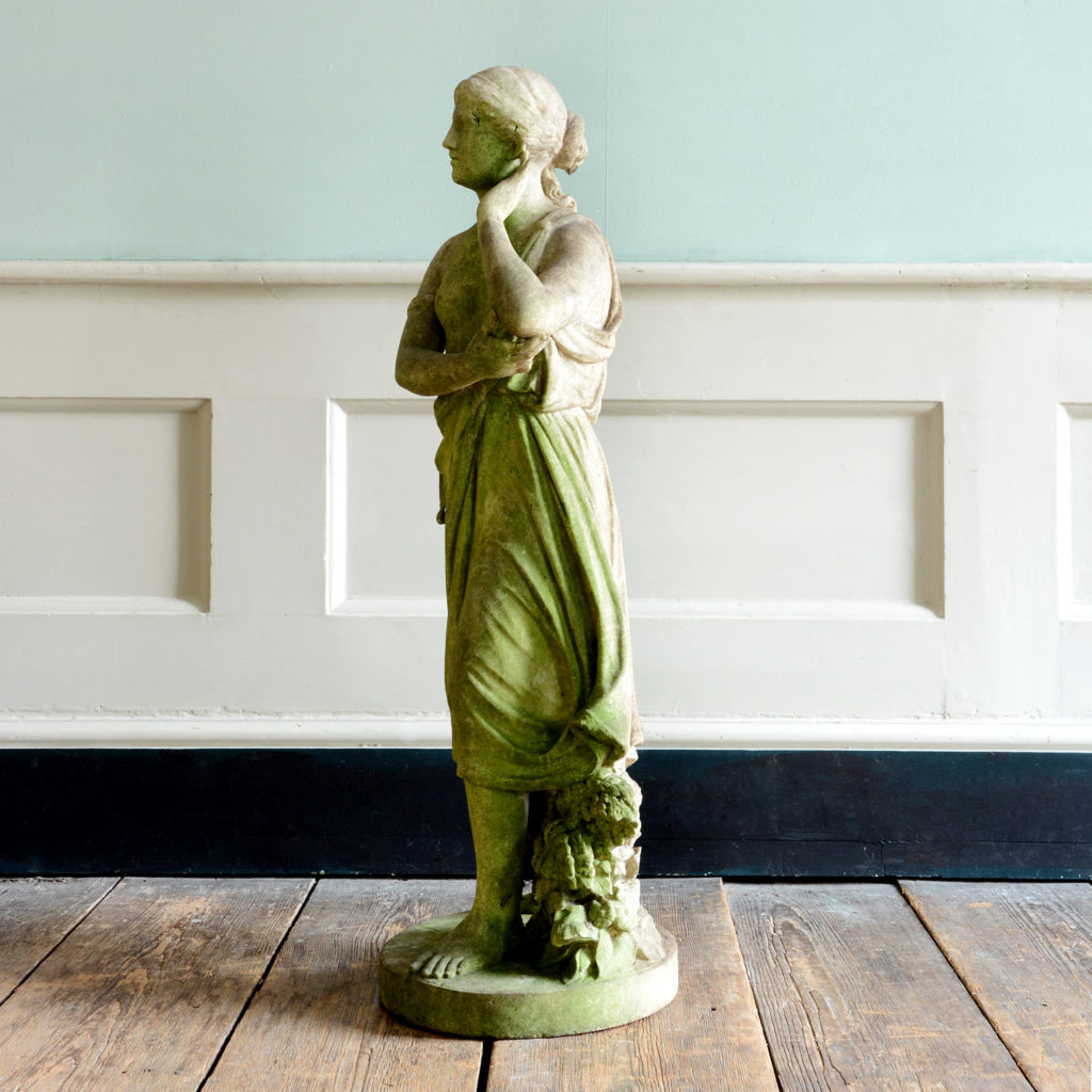 A late nineteenth century carved marble statue of Echo,-96194