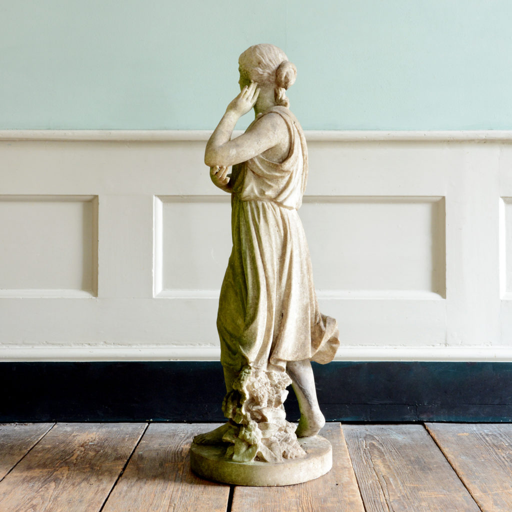 A late nineteenth century carved marble statue of Echo,-96200