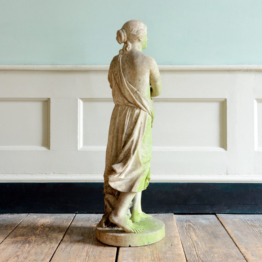 A late nineteenth century carved marble statue of Echo,-96195