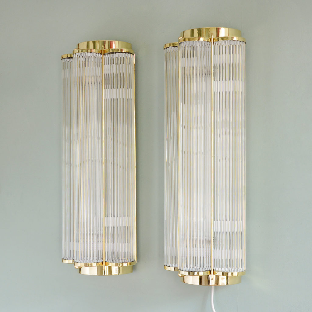 Pair of Art Deco style wall lights,-97166