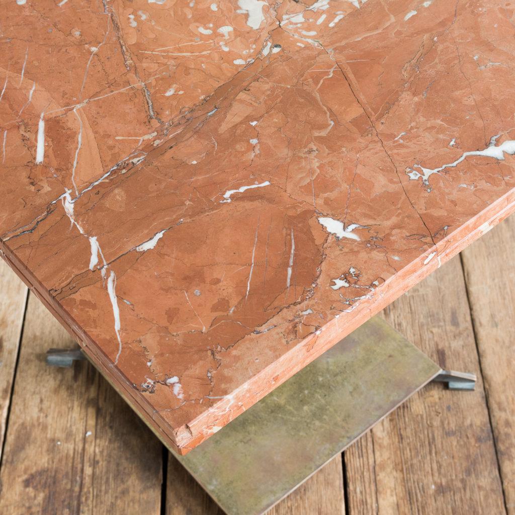Rojo Alicante marble table,-114510