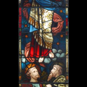 A mid-Victorian stained glass chancel window-0