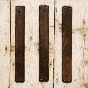 Ebony door fingerplates