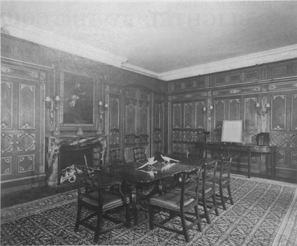 Panelled Room in situ Alresford House