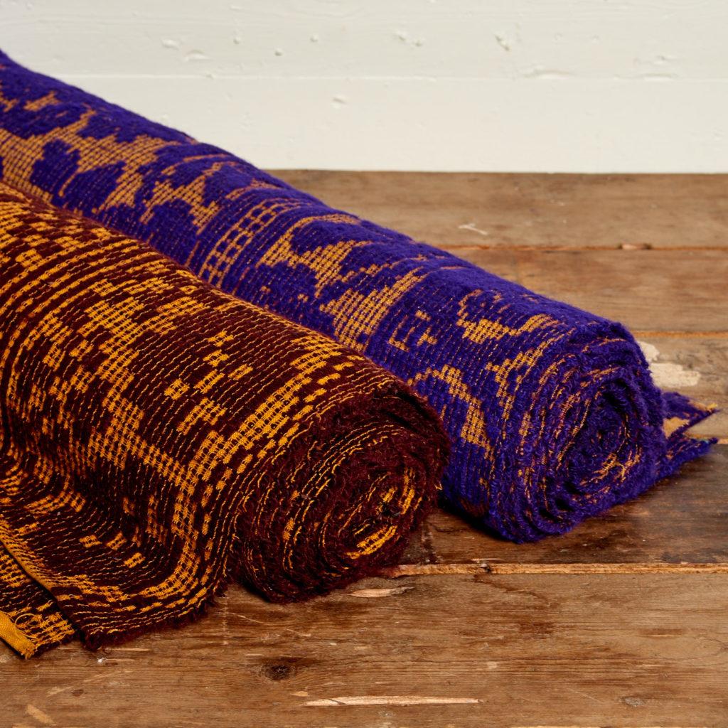 Patterned folk blanket,-97910
