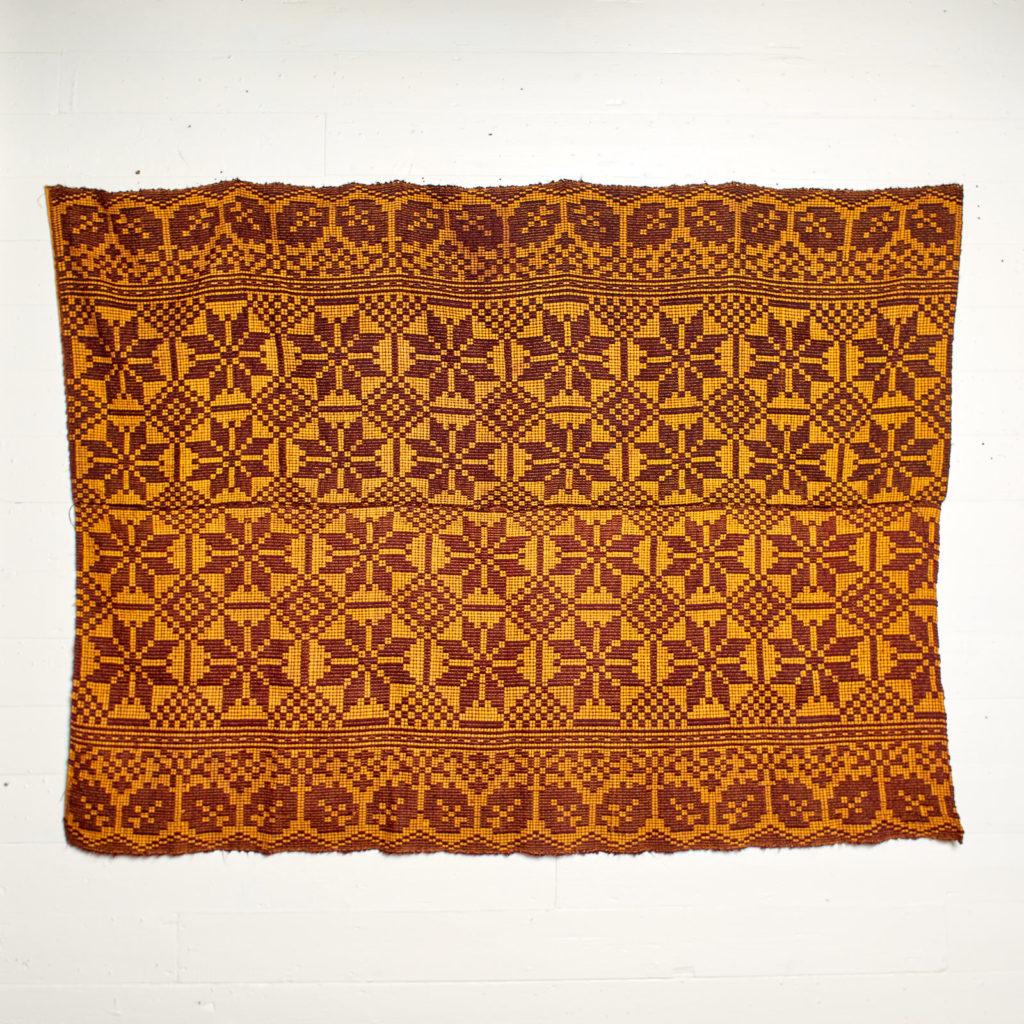 Patterned folk blanket,-0