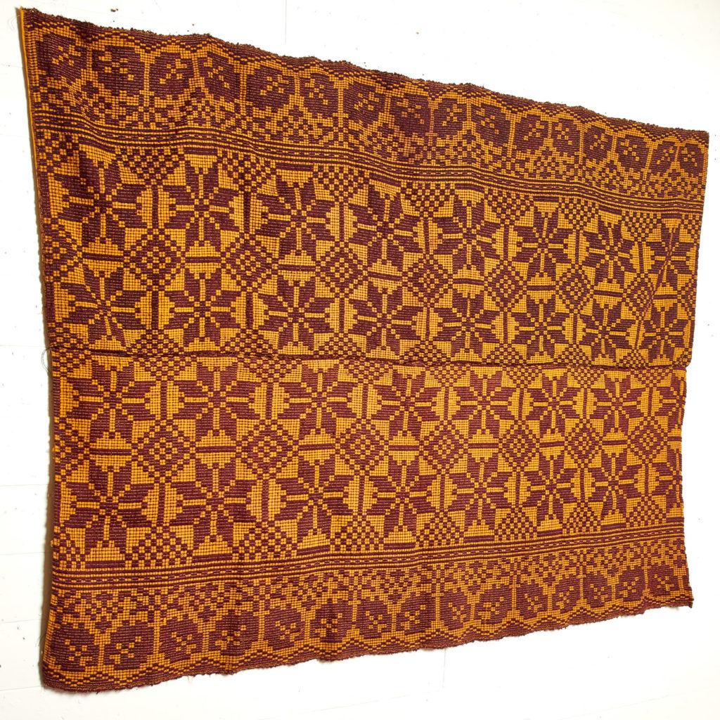 Patterned folk blanket,-97915