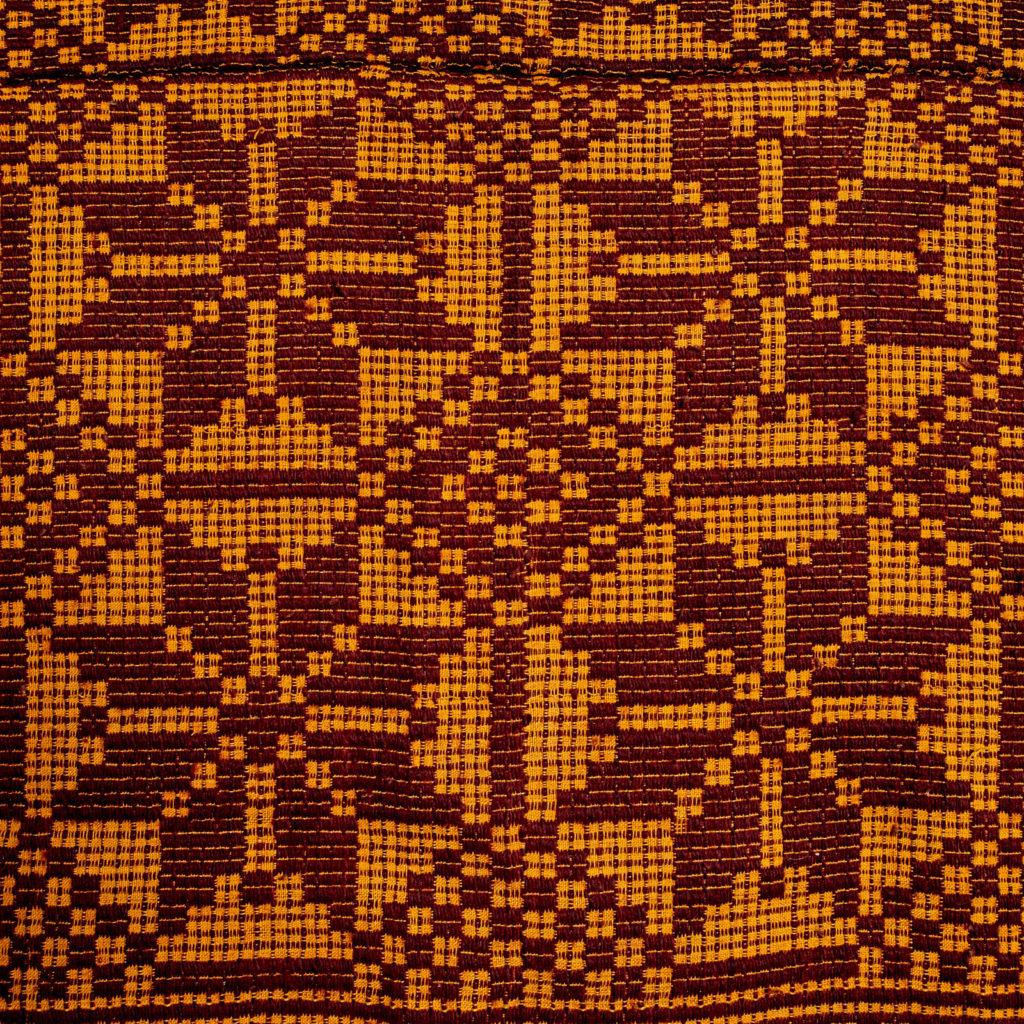 Patterned folk blanket,-97917