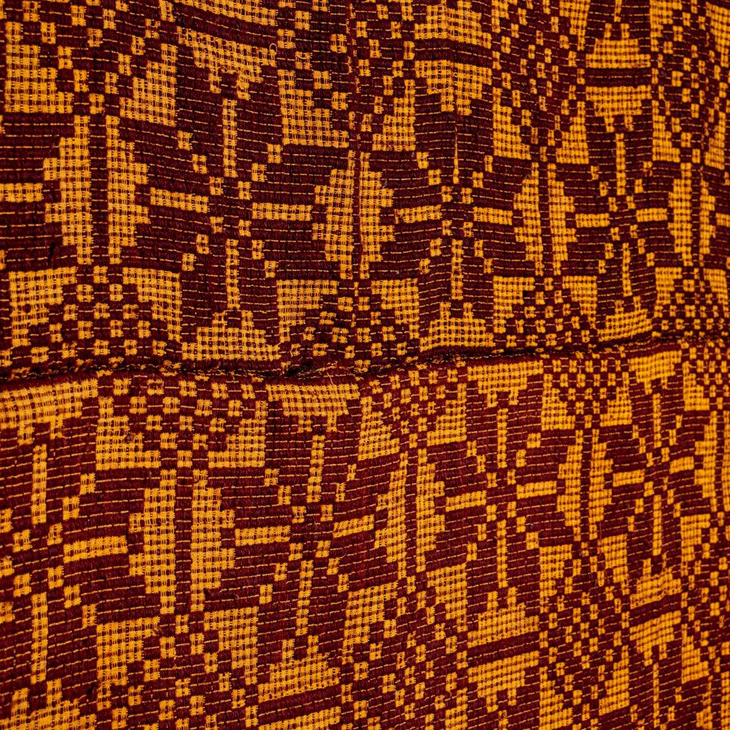Patterned folk blanket,-97916