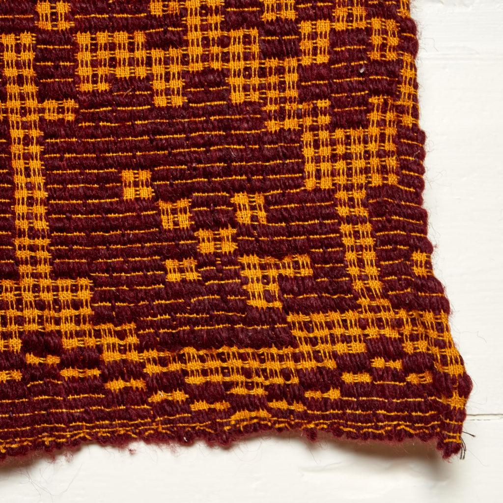 Patterned folk blanket,-97912