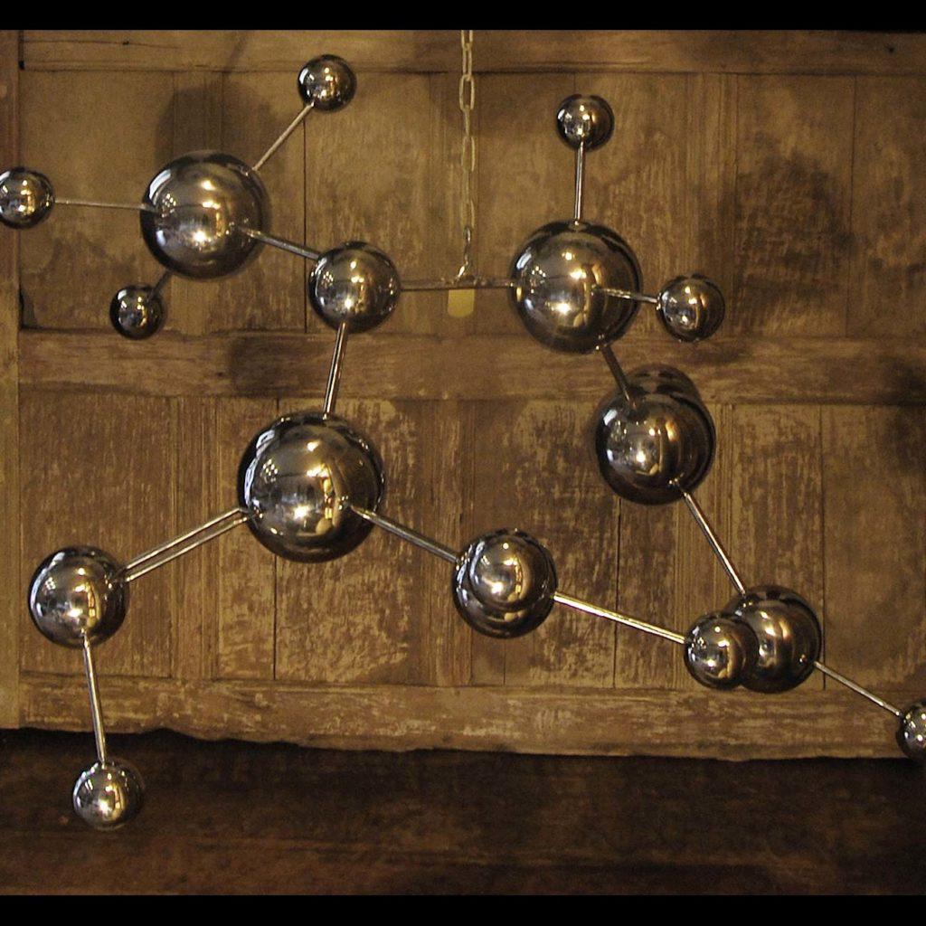 A polished steel molecular sculpture-98224
