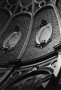 Detail of the glazed inner face of the rotunda