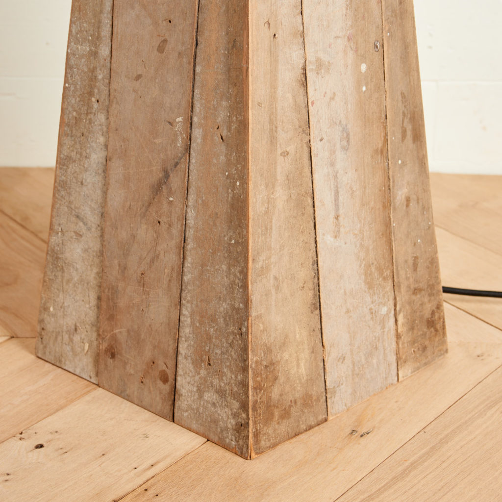 A 'GO' lamp stand with reclaimed maple,-98743
