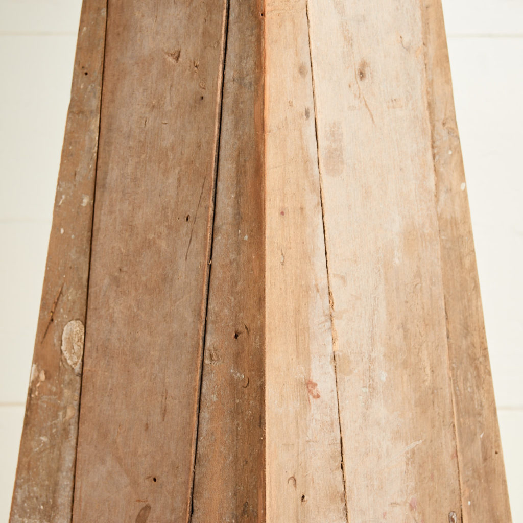 A 'GO' lamp stand with reclaimed maple,-98745