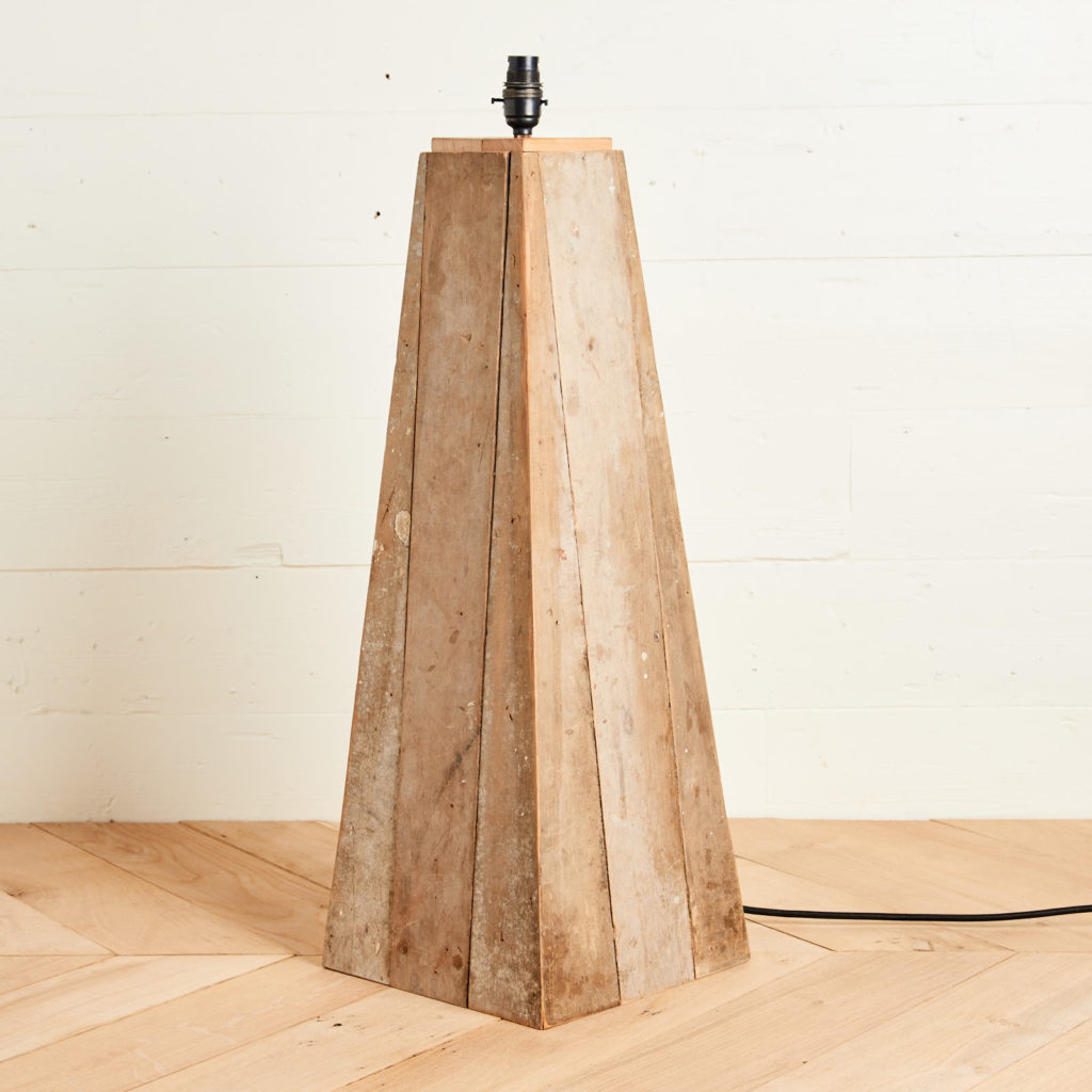A 'GO' lamp stand with reclaimed maple,-0