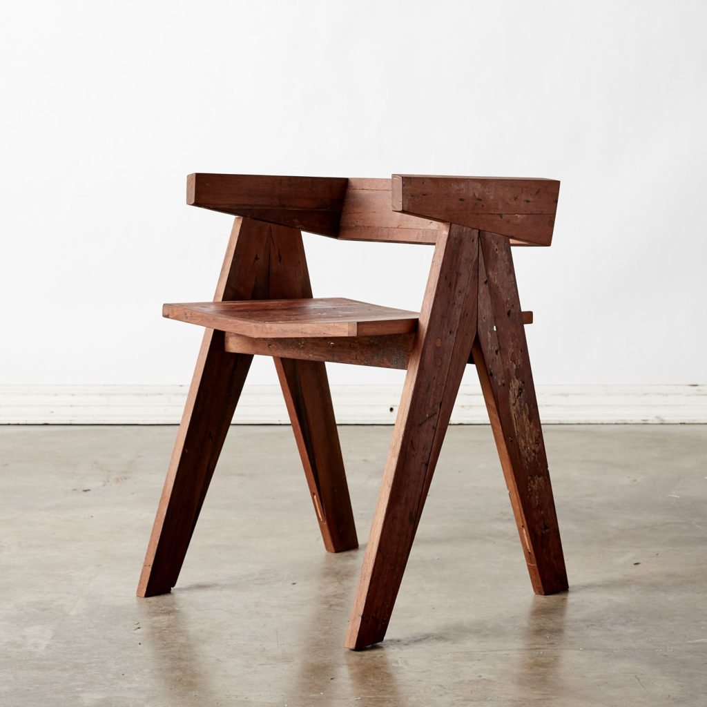 A 'GO' chair with reclaimed Burmese teak, -0