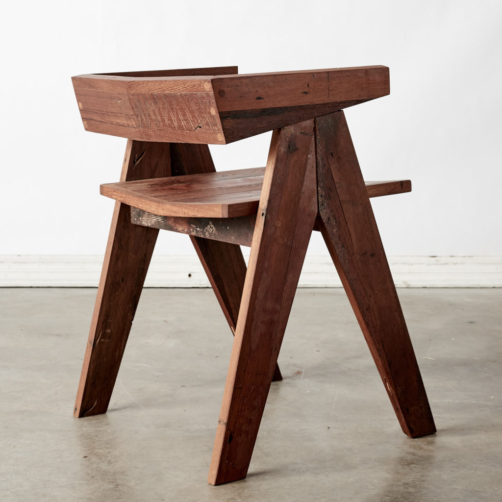 A 'GO' chair with reclaimed Burmese teak, -98751