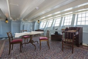 Nelson's Cabin on HMS Victory