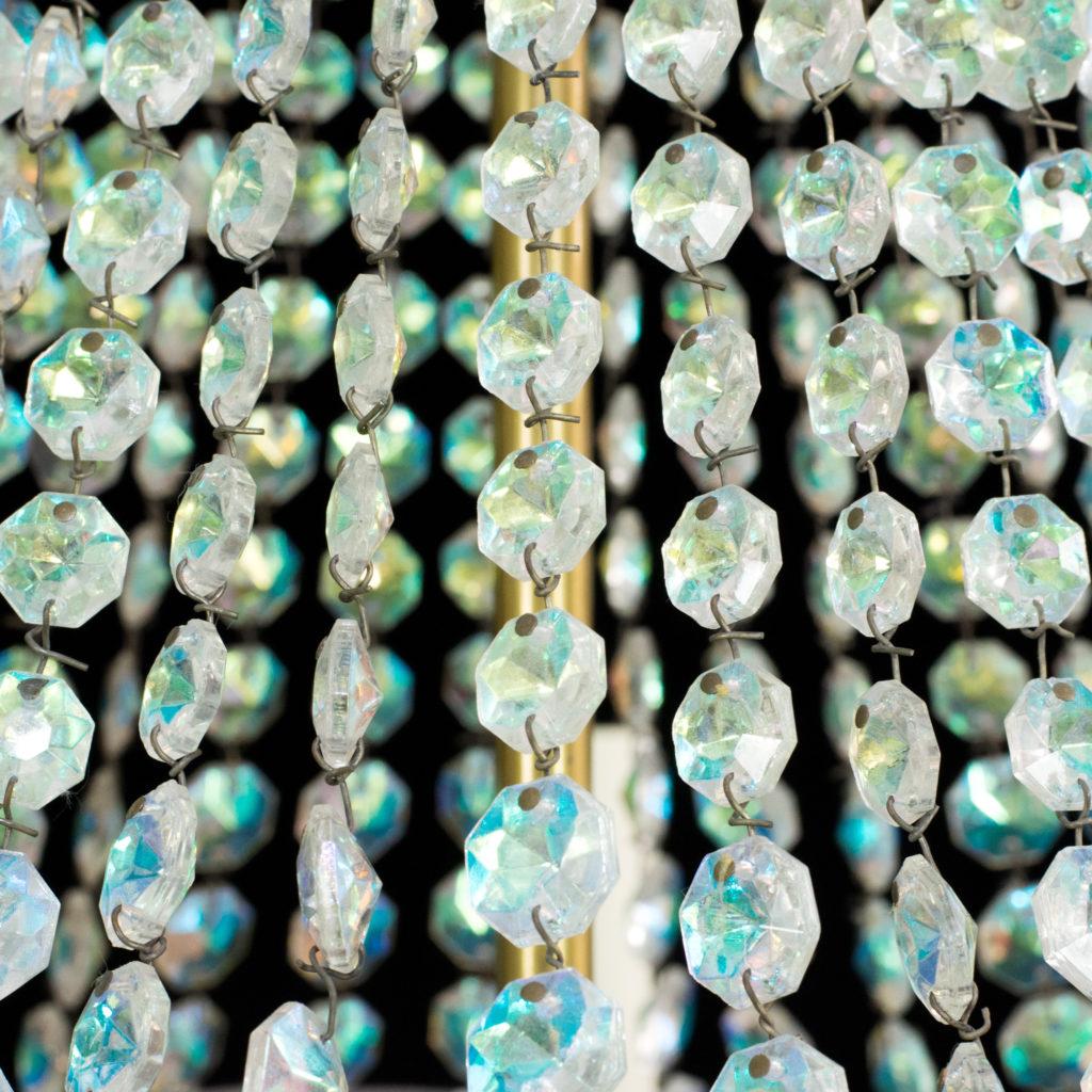 An eight branch iridescent Swarovski crystal chandelier,-99488