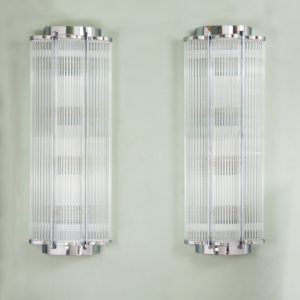 Pair of Art Deco style wall lights,-0