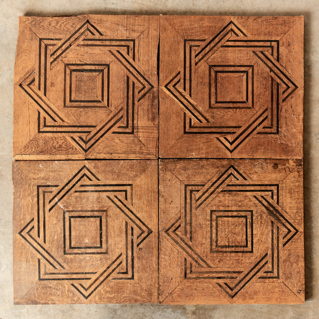 Reclaimed parquetry Panels in Oak and Ebony-0