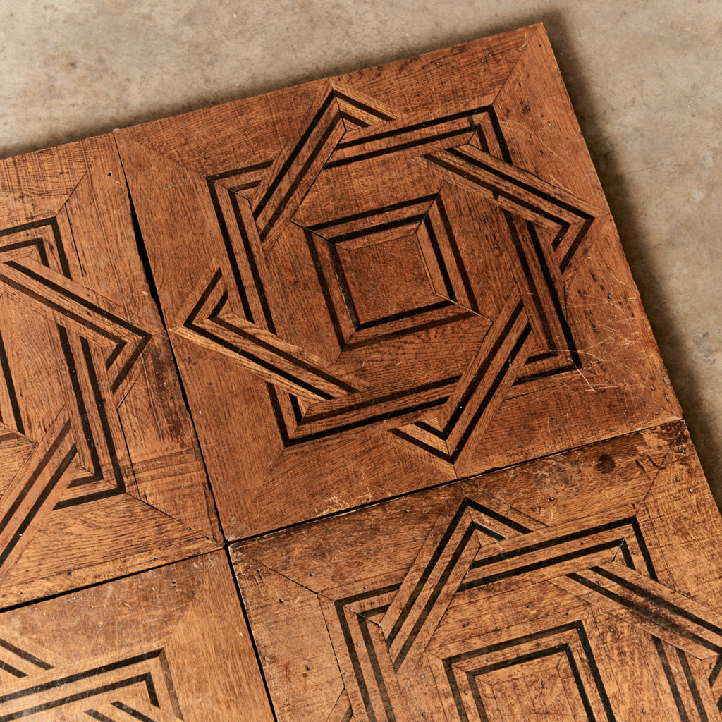 Reclaimed parquetry Panels in Oak and Ebony-99395