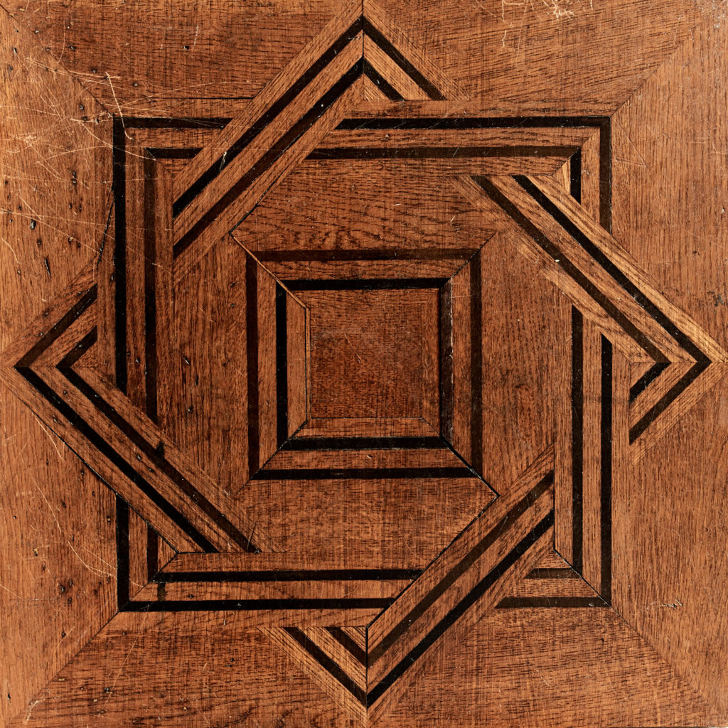 Reclaimed parquetry Panels in Oak and Ebony-99393