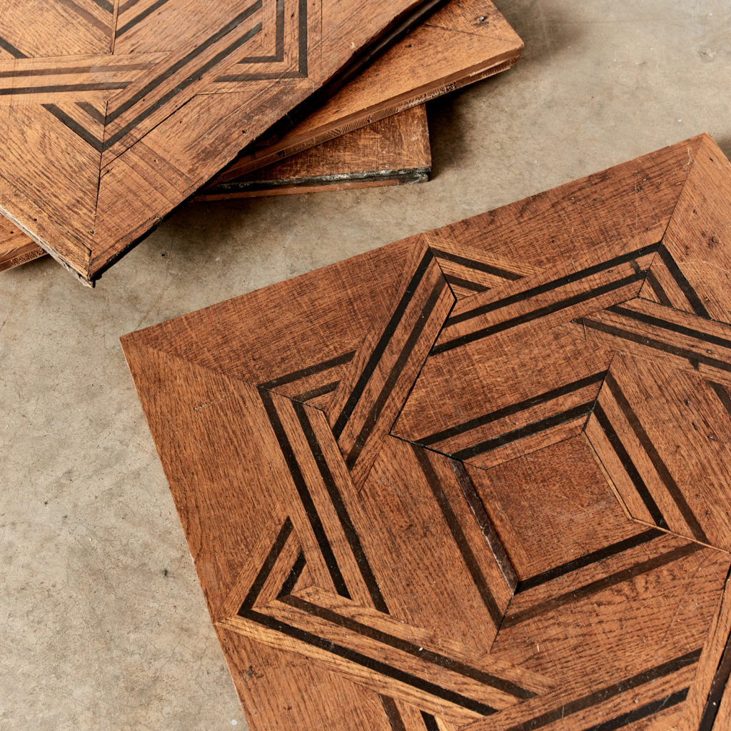 Reclaimed parquetry Panels in Oak and Ebony-99390