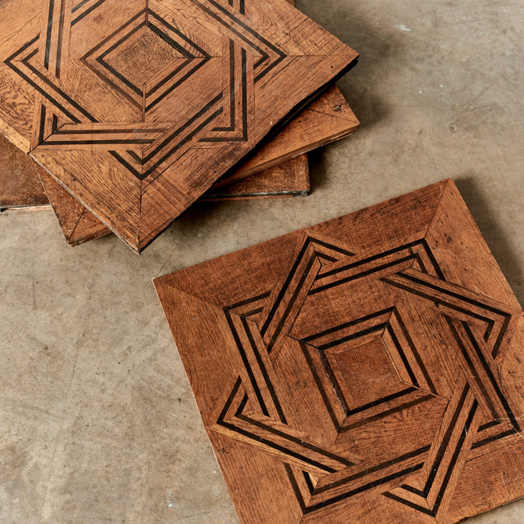 Reclaimed parquetry Panels in Oak and Ebony-99394