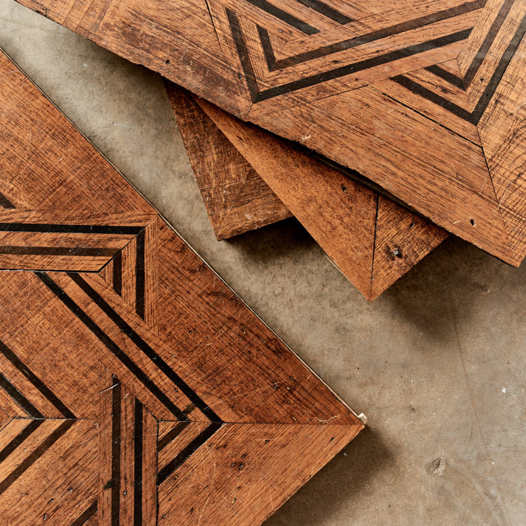 Reclaimed parquetry Panels in Oak and Ebony-99391
