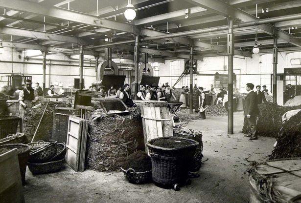 Inside of the Ogden's works 1910 A.D.