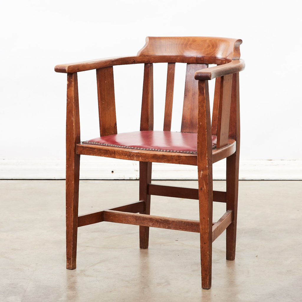 Stained beech tub chairs,-0