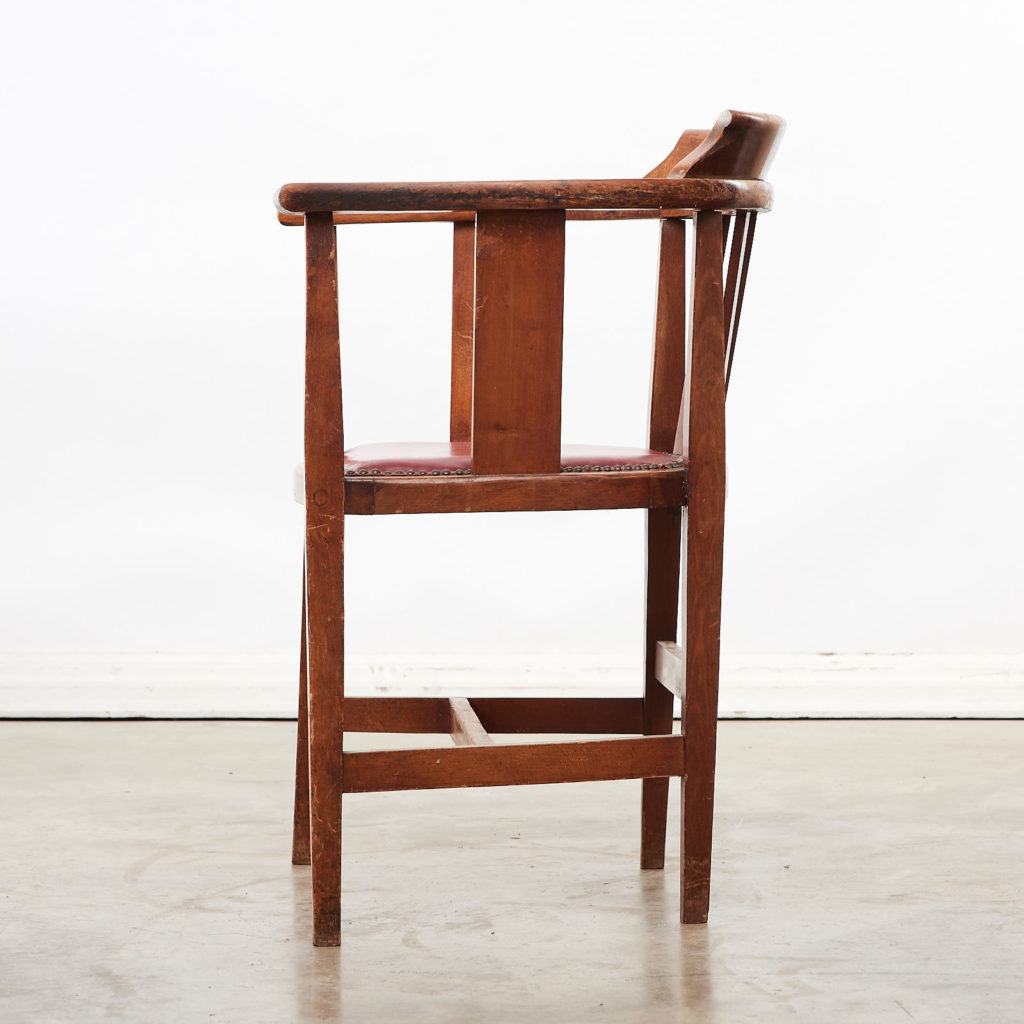 Stained beech tub chairs,-99928