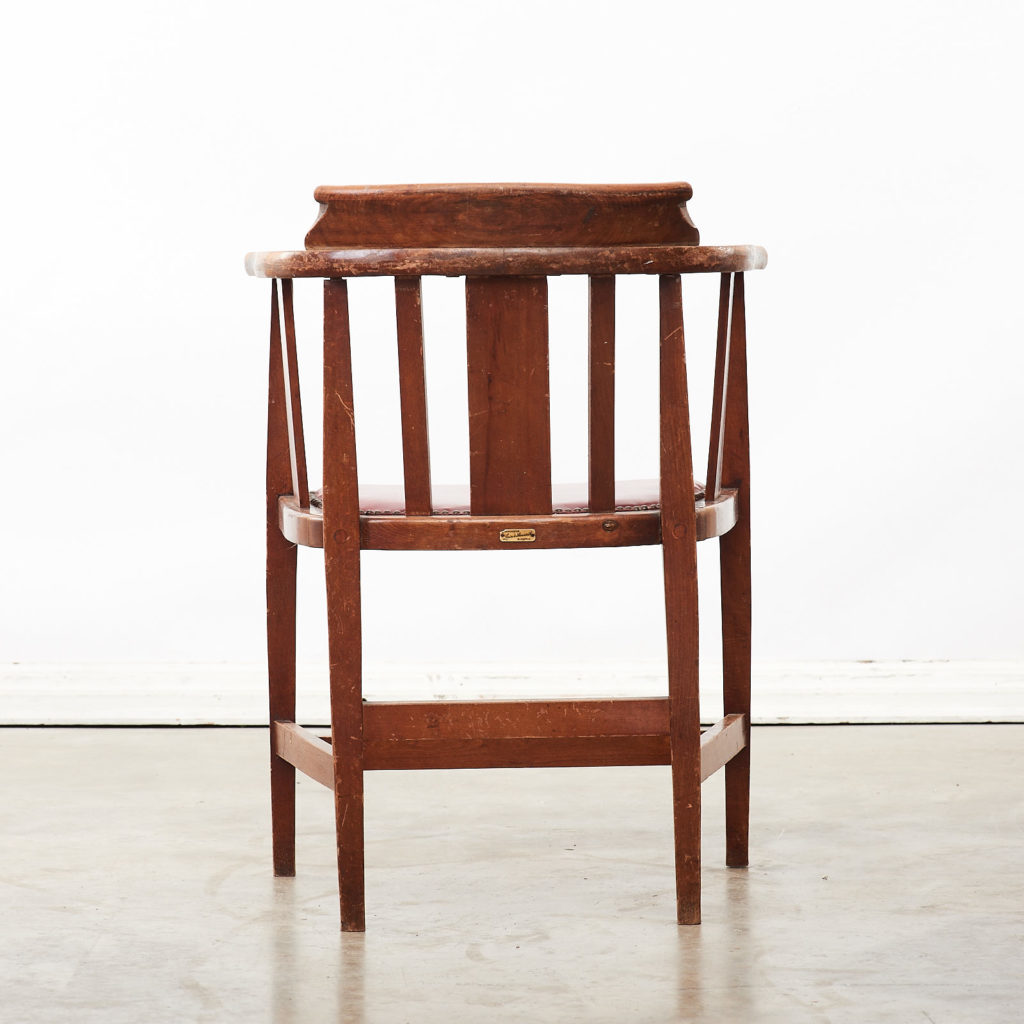 Stained beech tub chairs,-99929