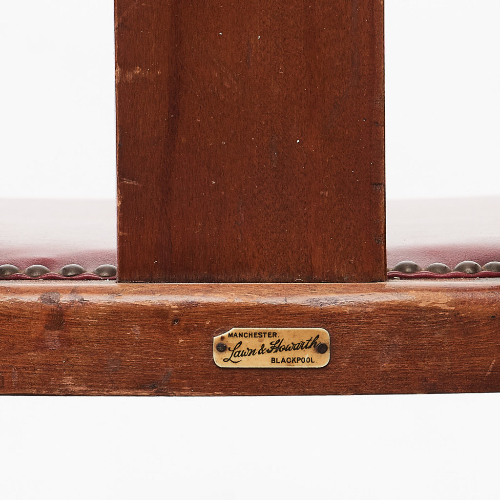 Stained beech tub chairs,-99932