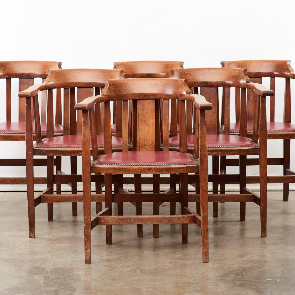 Stained beech tub chairs,-99930