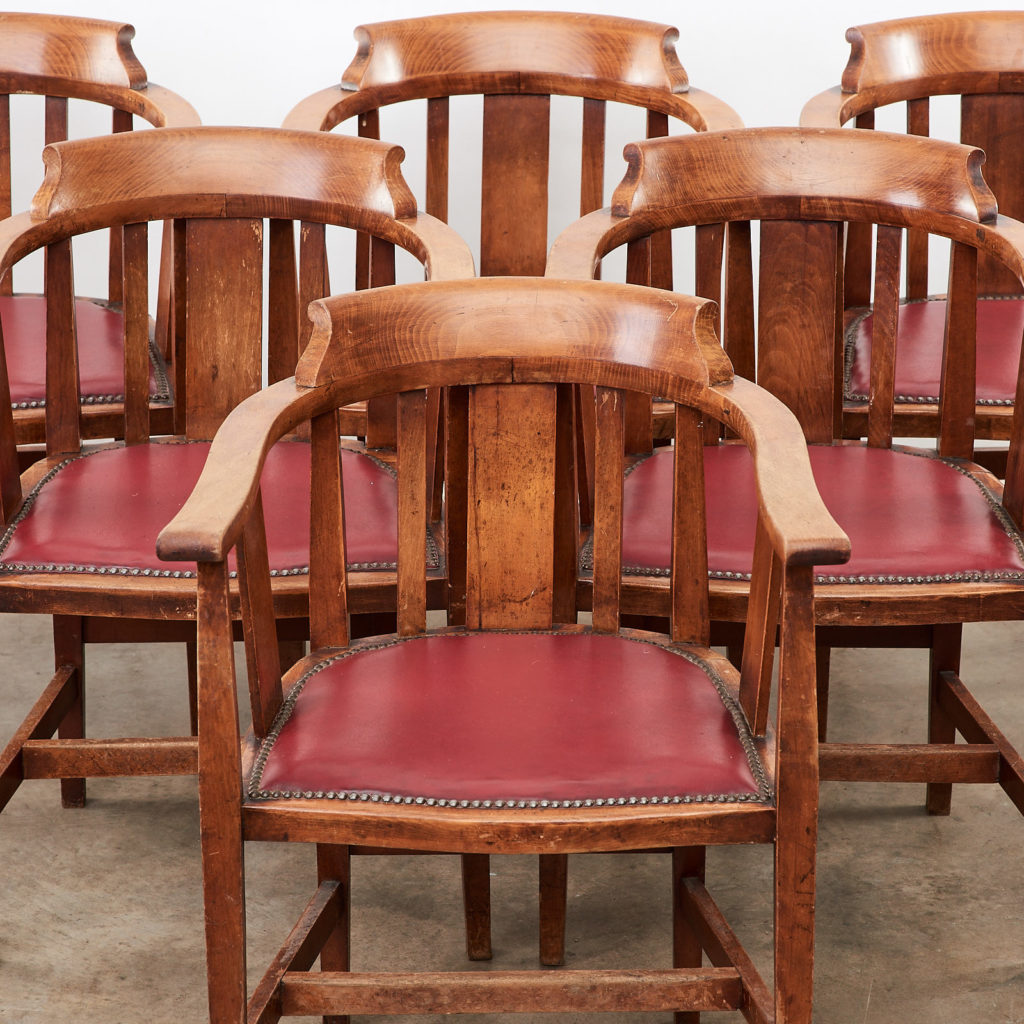 Stained beech tub chairs,-99931