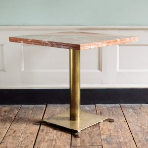 Rojo Alicante marble tables