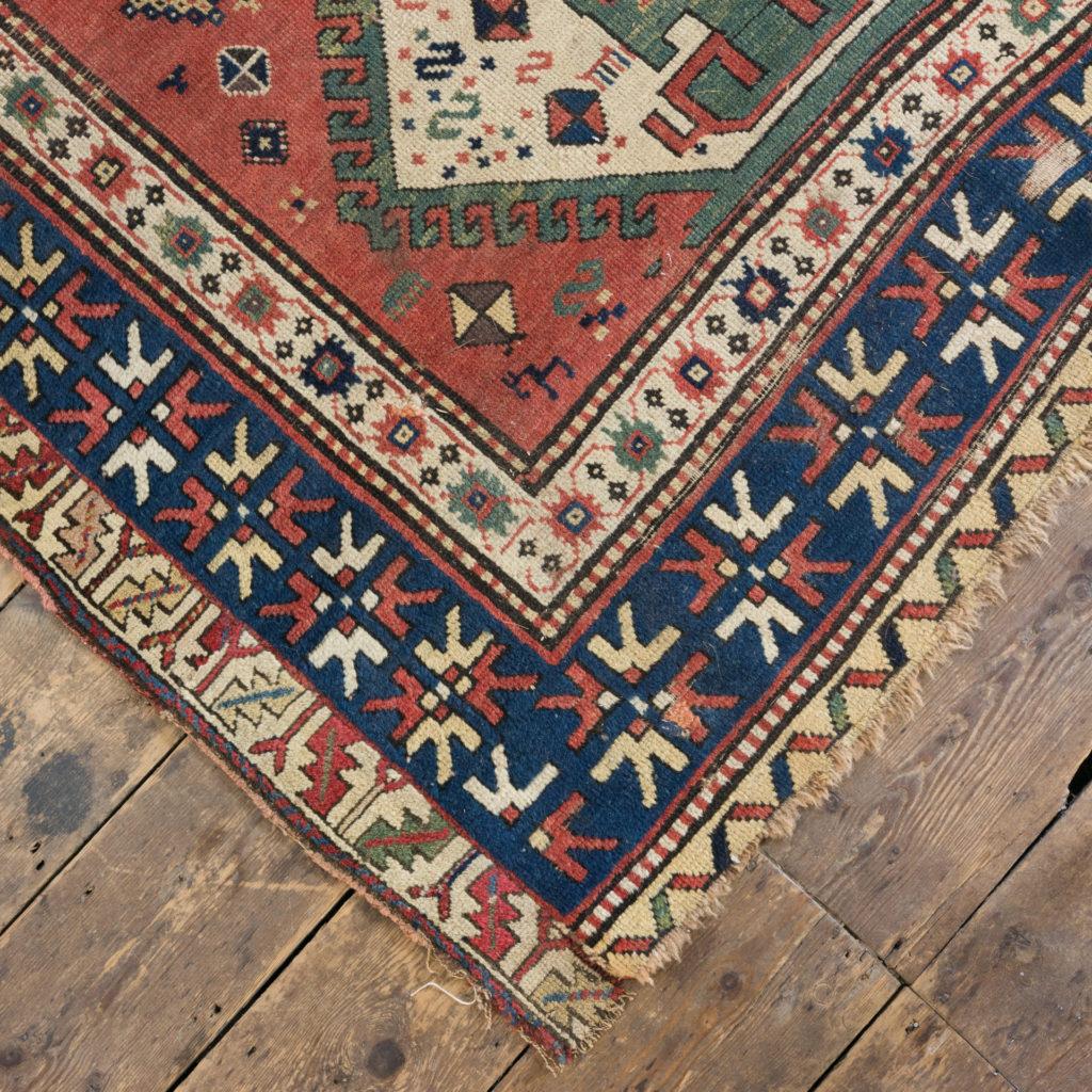 An antique Caucasian Kazak carpet,-100021