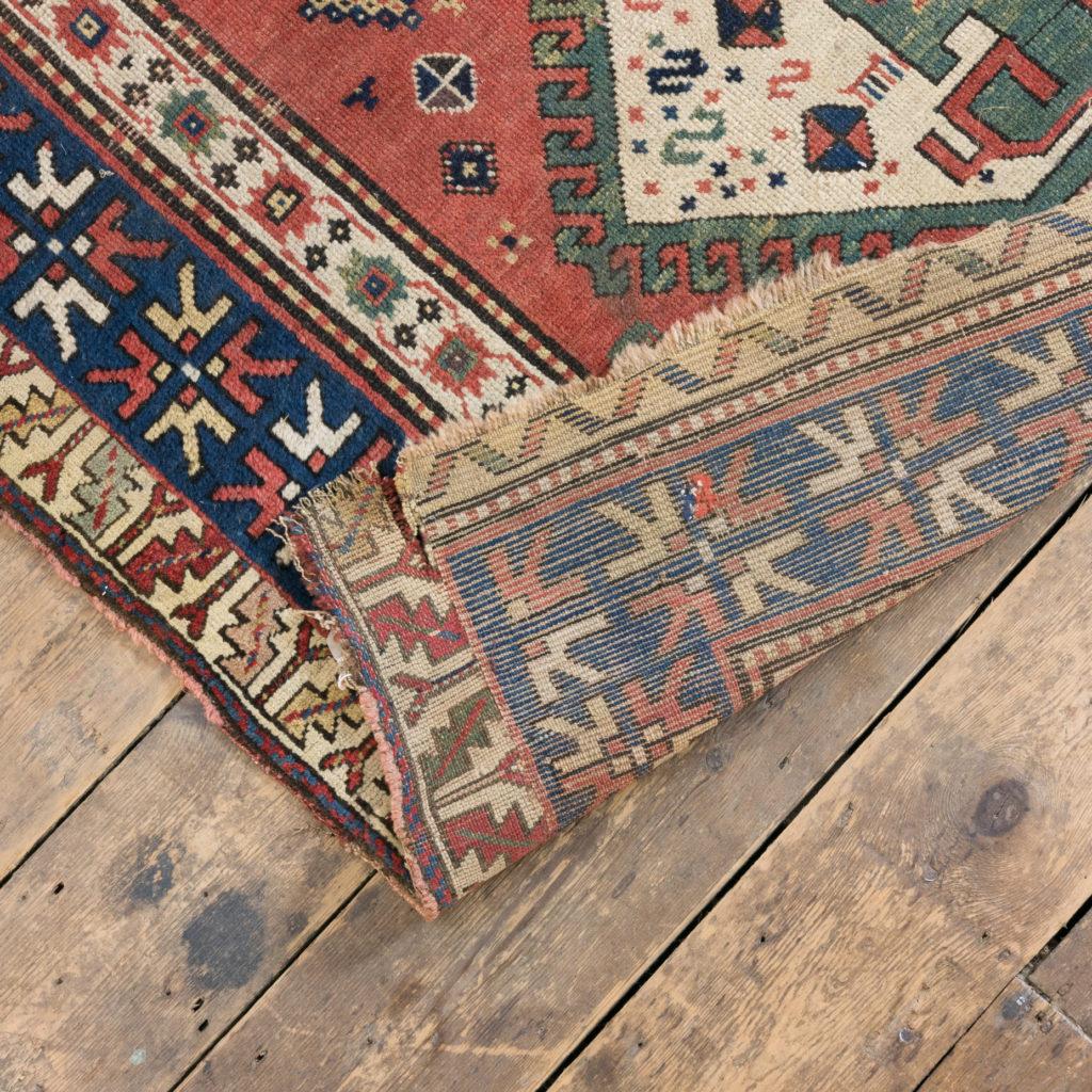 An antique Caucasian Kazak carpet,-100018